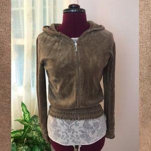 Juicy Couture Beige velour hoodie;